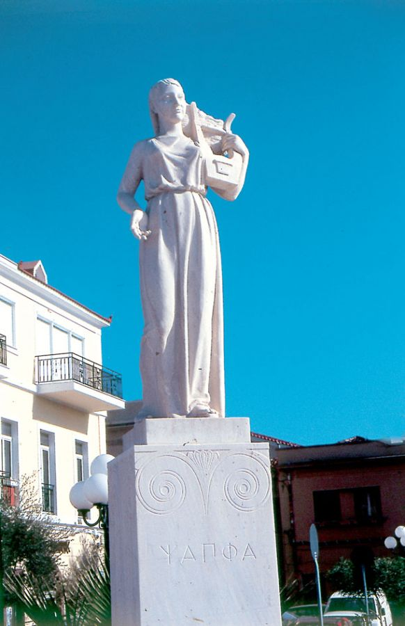 The statue of Sappho at Mytilene