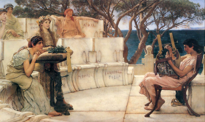 Sappho at the lesson